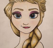 Elsa from Frozen  by Vickyis007