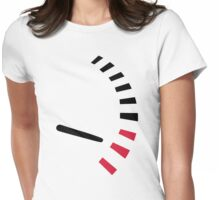 Racing speed tacho Womens Fitted T-Shirt