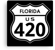 Florida 420 Day US Highway Sign Canvas Print