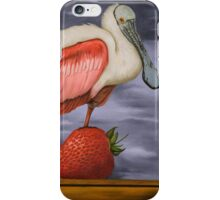 Spoonbill On A Strawberry iPhone Case/Skin