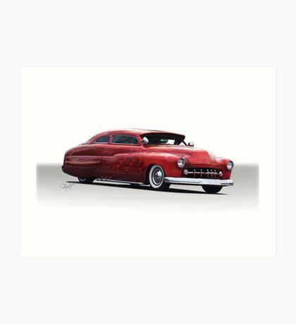 1950 Mercury Custom Coupe Art Print
