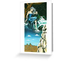 Desert Waterfall, 2005 Greeting Card