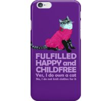 Childfree with cat (light) iPhone Case/Skin