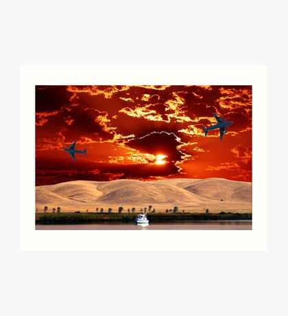 EARTH, SKY, FLYING AND FLOATING Art Print