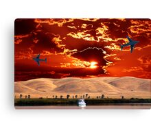 EARTH, SKY, FLYING AND FLOATING Canvas Print