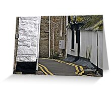 """"""" One of the Streets through this Historic Little Town"""" Greeting Card"""