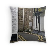 """"""" One of the Streets through this Historic Little Town"""" Throw Pillow"""