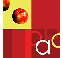 A is for Apple. Photographic Print