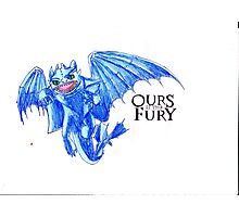 Ours is the Fury - Night Fury How to Train Your Dragon  Photographic Print