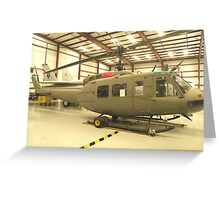 UH-1 Huey Helicopter Greeting Card