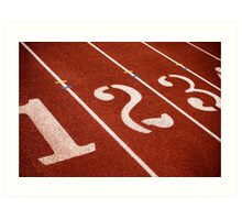 1,2,3 GO Track and Field Art Print