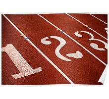 1,2,3 GO Track and Field Poster