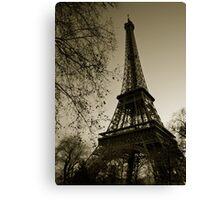 Retro Eiffel Canvas Print