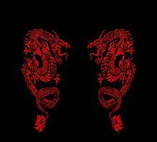 Red Dragon Leggings by HeartattackJack