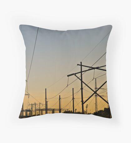 Lighting Grid Throw Pillow