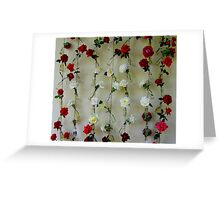 A String of Roses Greeting Card