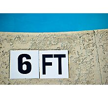 6ft Pool Sign Photographic Print