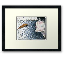 she used to dream in bleu prussien... Framed Print