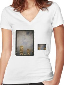The Lonesome Crowded West Women's Fitted V-Neck T-Shirt