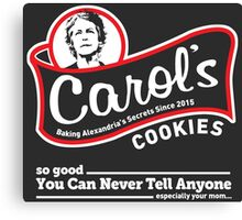 Carol's Cookies. Canvas Print