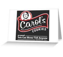 Carol's Cookies. Greeting Card