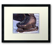 Jean Beliveau's Skates Framed Print