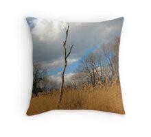 Barren Tree Throw Pillow