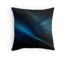 blue projection #1 Throw Pillow