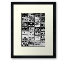 Everywhere There Are Signs Framed Print