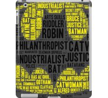 Batman Word Cloud iPad Case/Skin