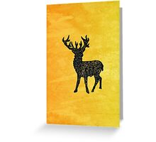 Geo-Stag Greeting Card