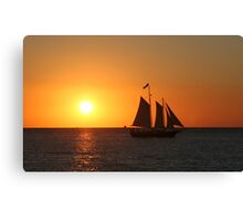 Sunset at Cape Charles Canvas Print