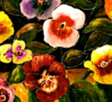 Flowers...Pansies Sticker
