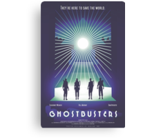 """""""Ghostbusters"""" Poster Canvas Print"""