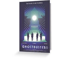 """Ghostbusters"" Poster Greeting Card"