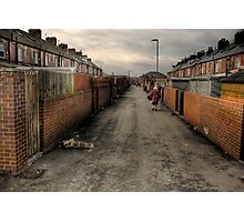 Through the backstreets of a Yorkshire mining Town Photographic Print