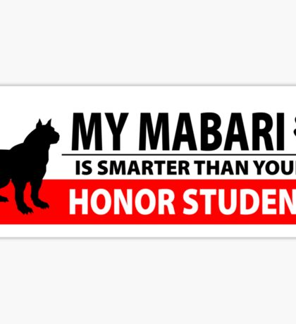 My Mabari is Smarter [Black] Sticker