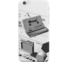 Napoleon Cassette and Deck - Wireframe iPhone Case/Skin