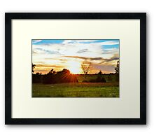 Red Prairie In Evening Sun Framed Print