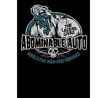 Abominable Auto Photographic Print