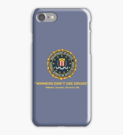Arcade Winners Dont Use Drugs iPhone Case/Skin