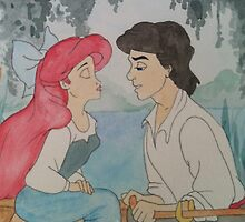 The Little Mermaid Watercolor by ally1021