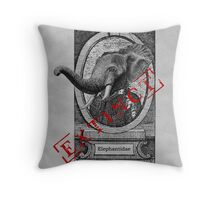 Elephantidae Exstinta Throw Pillow