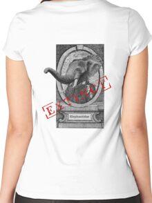 Elephantidae Exstinta Women's Fitted Scoop T-Shirt