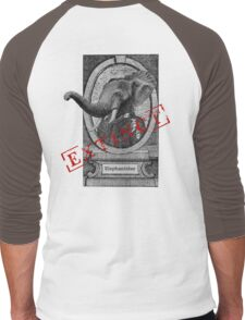 Elephantidae Exstinta Men's Baseball ¾ T-Shirt