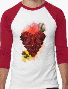 Blooming Heart Men's Baseball ¾ T-Shirt