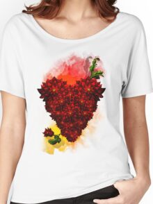 Blooming Heart Women's Relaxed Fit T-Shirt