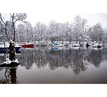 Winter on the Riverbank Photographic Print