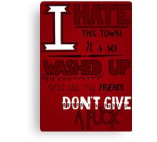 A Day To Remember - All Signs Point To Lauderdale (Part 2) Canvas Print