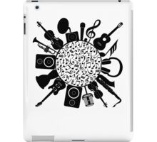 Music Notes  Instrument Collage iPad Case/Skin